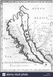 French Map Mid 17th Century French Map Of The U0027island U0027 Of California Or Baja
