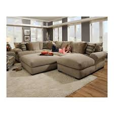 Sofa And Sectional 3 Sectional Sofa And Ottoman In Bacarat Taupe Nebraska