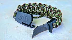 bracelet survival images World 39 s first survival bracelet knife jpg