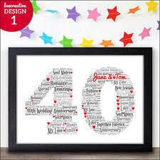 40th wedding anniversary gift ideas 40th anniversary gifts ebay
