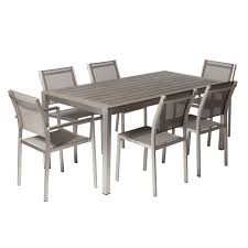 modern patio dining sets wayfair david 7 piece set dining room