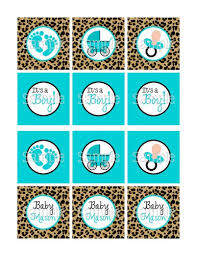 printable cheetah u0026 blue boy baby shower 2 25