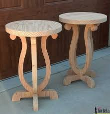 curvy side table board patterns and woodworking