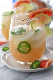 jalapeno margaritas sparkling jalapeño grapefruit margarita with chili lime salt