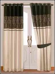 marvelous gold and white striped curtains and black cream and gold