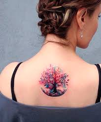 pretty tree design on the back for