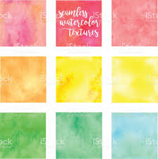 Yellow Swatches Seamless Watercolor Swatches Stock Vector Art 664800670 Istock