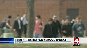 halloween city howell mi teen arrested for howell high threat