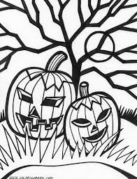 Creepy Halloween Coloring Pages by Halloween Graphics Merk Zone