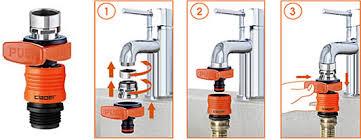 kitchen faucet to garden hose adapter indoor faucet to garden hose connector gardening ideas