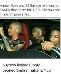 Amber Ls Meme - amber rose and 21 savage relationship faker than them big dick