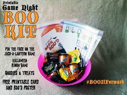 free printable halloween bingo game cards boo it forward with the game night boo kit while he was napping