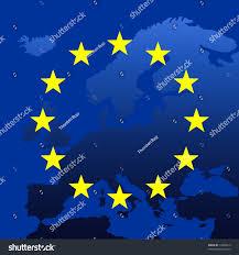 Eu Map Continent Europe Map Eu Stars Symbolic Stock Illustration 14830219