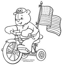 dulemba coloring tuesday bicycle bear happy 4th