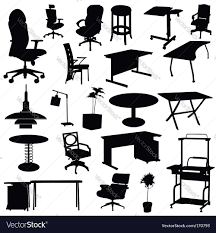 Office Chair Vector Side View Office Table And Chairs Vector