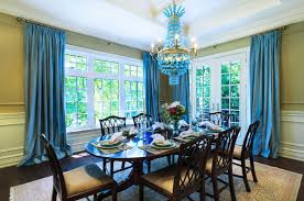 Dining Room Drapes A Bold Statement With Velvet Drapes U0026 Curtains