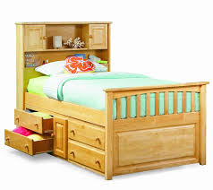 twin bed frame with drawers and headboard amazon com capt u0027s bookcase w underbed 4 drawer chest natural