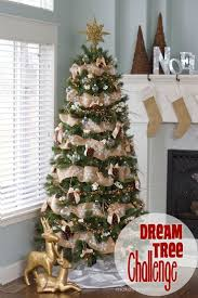 christmas tree decorated with burlap ribbon decorated christmas