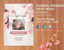 funeral program printing grief mourning visual arts printing printmaking etsy studio