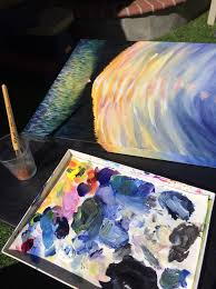 acrylic painting demo blending colors on your palette how i paint