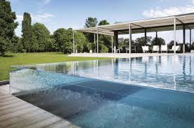 glass outdoor swimming pool design ideas