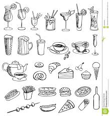 drink vector food and drink vector set stock vector image of group 20309692