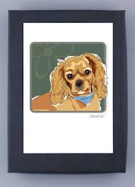 paper russells boxed note cards cavalier king charles spaniel