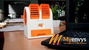 Portable Desk Air Conditioner Mini Small Fan Cooling Portable Desktop Dual Bladeless Air