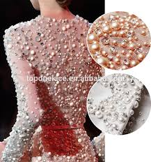 pearl lace gorgeous pink 3d lace fabric embroidered bridal lace textile