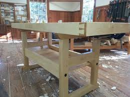 completed workbench class heritage of woodworking blog