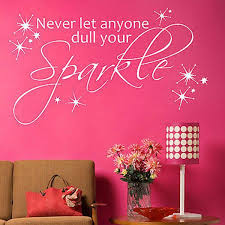 Sparkle Wall Decor Girls Quote Wall Decals