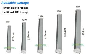 12watt 2g11 led replacement pll lamp 327mm smd 4 pin led tube