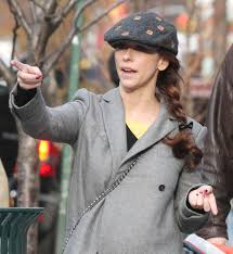 jennifer love hewitt in weird out and about in new york