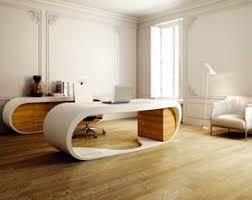 bureau arrondi meuble design contemporain mobilier designer italien