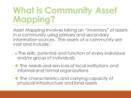 asset mapping identifying community assets and resources ppt