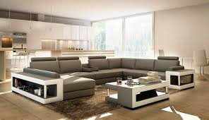 Grey Leather Sectional Sofa Grey And White Leather Sectional Sofa With Coffee Table Vg080