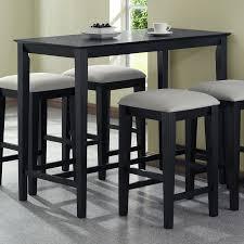 Shop Monarch Specialties Black Oak Rectangular CounterHeight - Counter height dining table in black