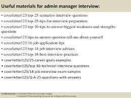 top 5 admin manager cover letter samples