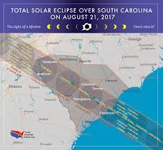Map Of South Carolina Counties 2017 Total Solar Eclipse In South Carolina
