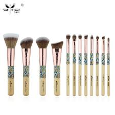 cheap professional makeup cheap 11 12 buy anmor new 12pcs make up brushes bamboo