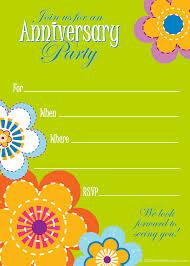 Anniversary Invitation Cards Samples Free Printable Anniversary Clip Art 65