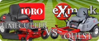 toro timecutter ss vs exmark quest e series