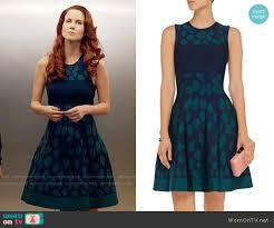 wornontv gilda u0027s blue and green polka dot dress on izombie