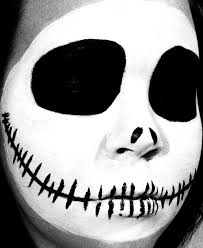 jack skellington skull halloween makeup vintage or tacky