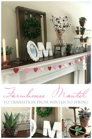 winter to spring mantel farmhouse and succulents from the