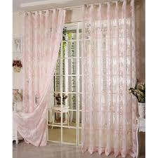 Balcony Door Curtains Great Bargain Unique Country Style Sheer Curtains Buy Pink Sheer