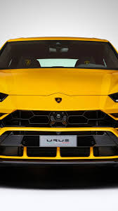Download 750x1334 Lamborghini Urus Front View Yellow Suv Cars