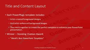 powerpoint template a color pencil and a customer service