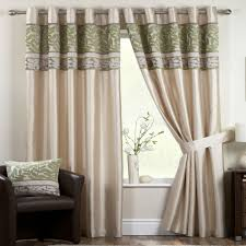 Danielle Eyelet Curtains pale green sage mint velvet ivory cream curtains eyelet ring lined