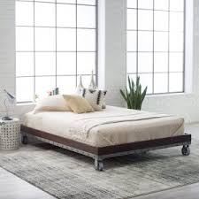 bedroom design oak wood platform bed frame full with carpet tiles